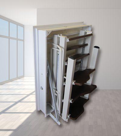 scala retrattile a pezzi gradini in legno