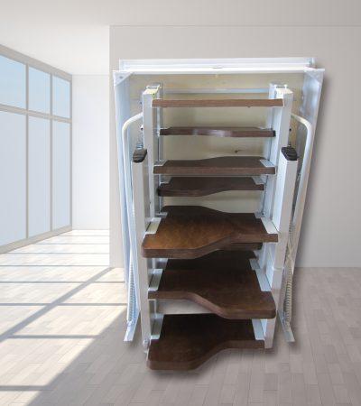 scala retrattile a elementi gradini legno