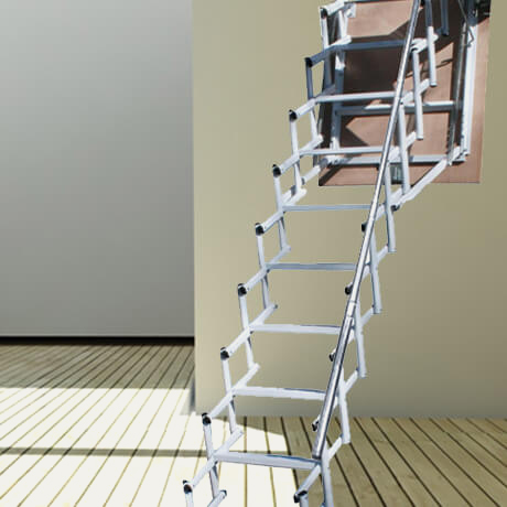 Retrattile a soffitta pantografo - Scale a parete ...