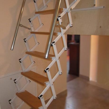Retrattile a soffitta pantografo scale a scomparsa - Scale a parete ...