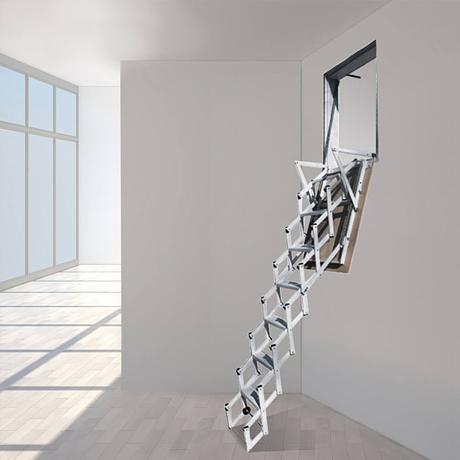 scala retrattile da parete