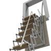 scala retrattile parete vista da sotto